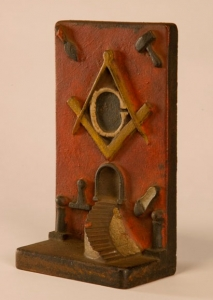 Masonic Doorstop, late 1800s, United States or England. Museum Purchase, 2009.072. Photograph by David Bohl.