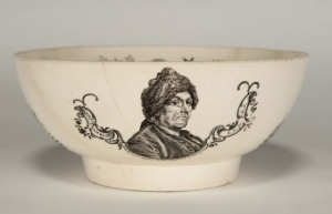 Bowl, 1796-1800, Liverpool, England. Museum purchase through the generosity of Stanley N. Howard Sr., Roland B. Greenley, M.R. Langdell, and the Harvey Leggee Collection of Shrine and Fraternal Material, 2010.052. Photograph by David Bohl.