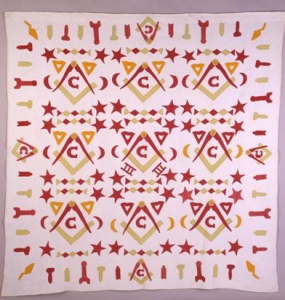 Masonic Quilt, 1880–1920. Probably Ohio. Scottish Rite Masonic Museum and Library, Museum Purchase, 2002.008. Photo by David Bohl.