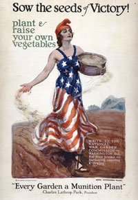 Sow the Seeds of Victory!, 1918. James Montgomery Flagg (1877-1860), United States. National Heritage Museum, Van Gorden-Williams Library & Archives, gift of Andrew S. Dibner. 2000/37/05