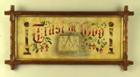 Trust In God, ca. 1875. Unidentified Maker. American. Scottish Rite Masonic Museum and Library, Gift of the Estate of Charles V. Hagler, 85.20.18. Photo by David Bohl.