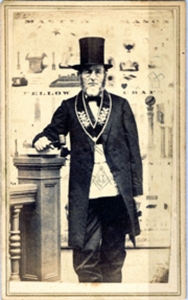 Unidentified Masonic Lodge Master, 1865. H. Cushing, Windsor, Vermont. Gift in memory of Jacques Noel Jacobsen, 2008.038.35.