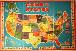 Game of the States, ca. 1960. Manufactured by the Milton Bradley Company, Springfield, Massachusetts. Gift of Mrs. John Willey, 2006.026.2