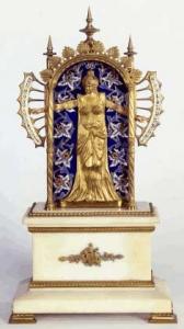 Clock, 1800s France. Gift of Mrs. Willis R. Michael