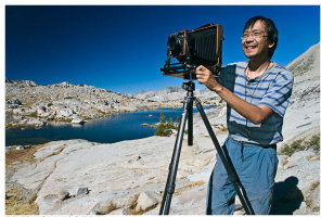 Quang-Tuan Luong at work in King's Canyon National Park, August 2007 Buddy Squires ©Buddy Squires, used with permission