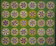 Pyrotechnic Star Quilt, mid-19th century. Attributed to Emma Jane Perry Proctor, Fair Haven, Vermont. Courtesy of the Shelburne Museum.
