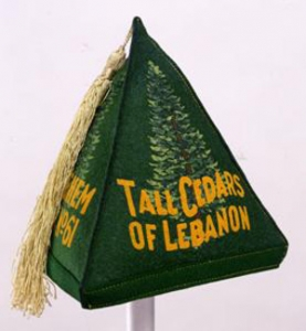 Tall Cedars of Lebanon Hat, 1960-1980. Probably American. Gift of Barry R. Stocker, Past Supreme Tall Cedar, 2001.056.1. Photograph by David Bohl.