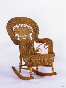 Rocking Chair, 1898-1915. Heywood Brothers and Wakefield Company, Gardner, Massachusetts. Gift of Barbara Mason, 84.25.2. Photograph by David Bohl.